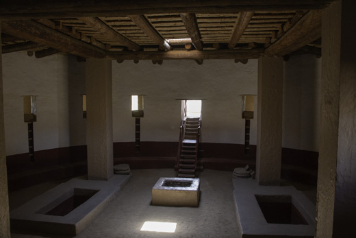 Interior of great kiva