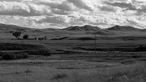 Black and White of Bear Paw Battlefield