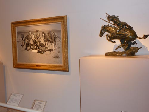 Small sculpture and painting in Whitney Gallery of Western Art