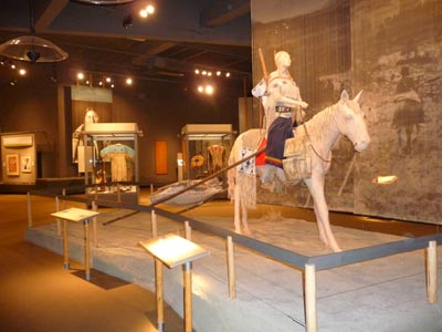 Objects on display in Plains Indians Museum