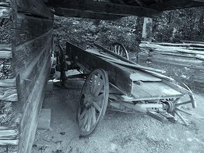 Old Wagon at Cades Cove