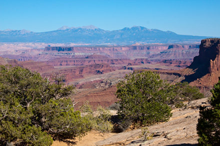 View of Canyonlands from near visitor center