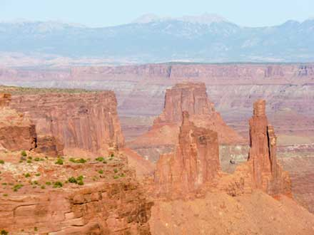View into canyonlands from Mesa Arch