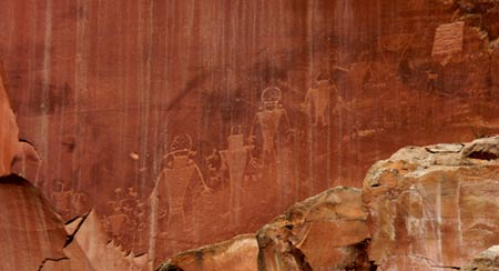 Petroglyph at Capital Reef