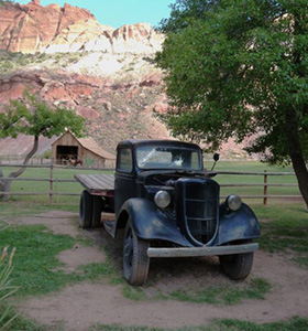 Old truck at Gifford Homestead