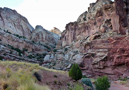 Canyons walls in Capital Reef