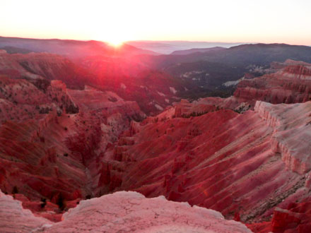 End of Sunset at Cedar Breaks