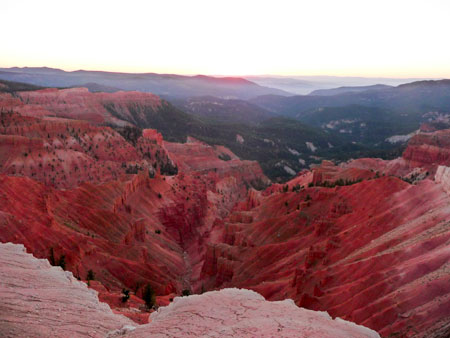 twilight at Cedar Breaks
