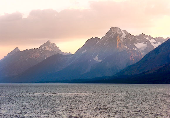 Grand Tetons and Jackson Lake Sunset