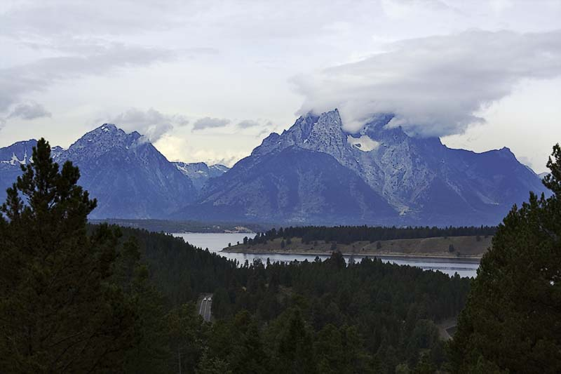View of Grand Tetons and Snake River