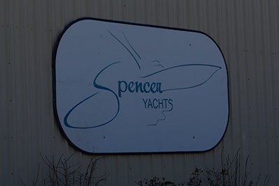 Sign for Spencers Yachts Manns-Harbor