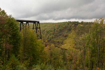 Kinzua Viaduct showing collapsed towers