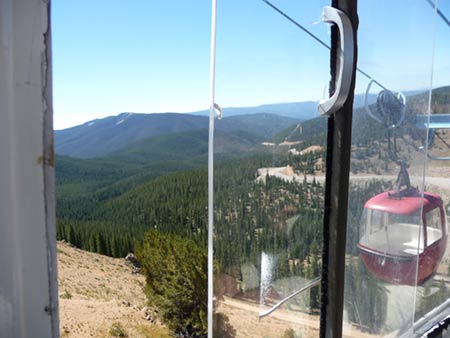 View from the Gondola as we traveled to the Monarch Crest