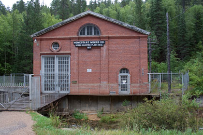 Old Homestake Mining Company Hydro electric plant number 2 1917