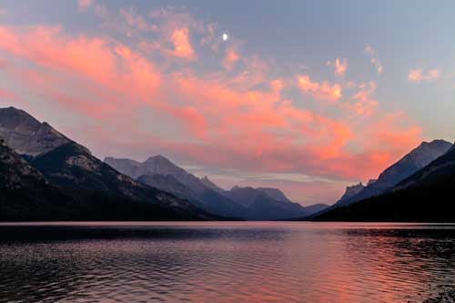Sunset Waterton Lakes
