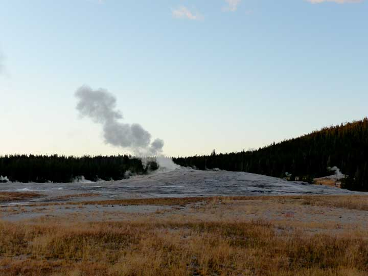 Old Faithful but not errupting